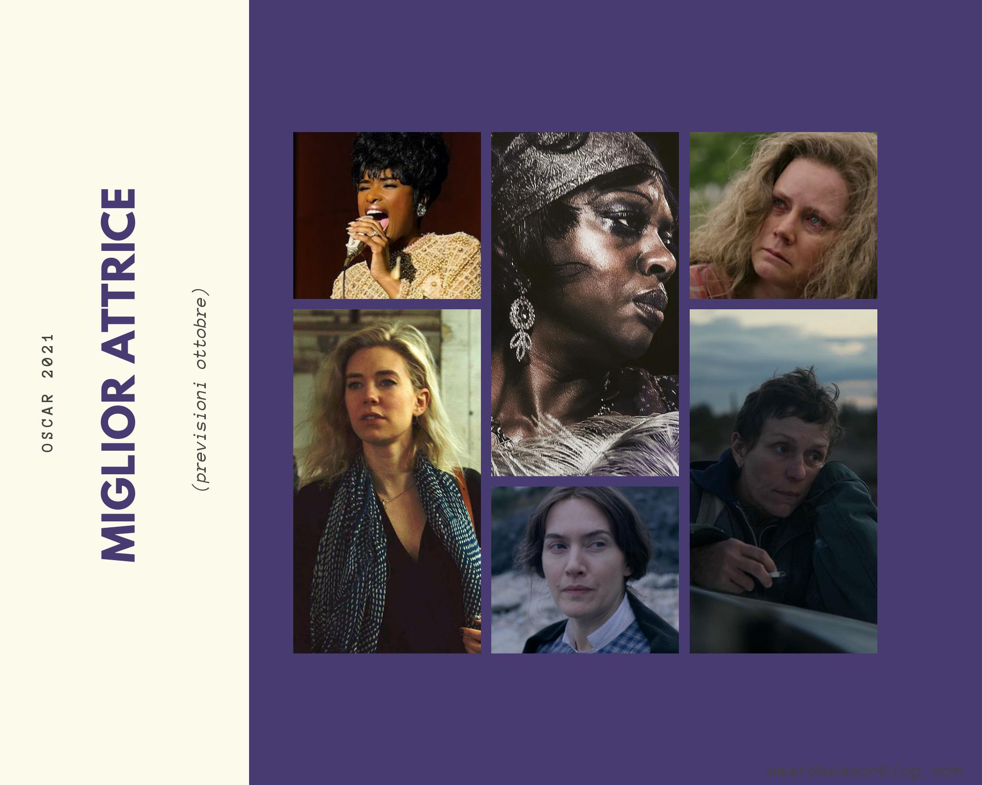 Previsini Oscar 2021 miglior attrice