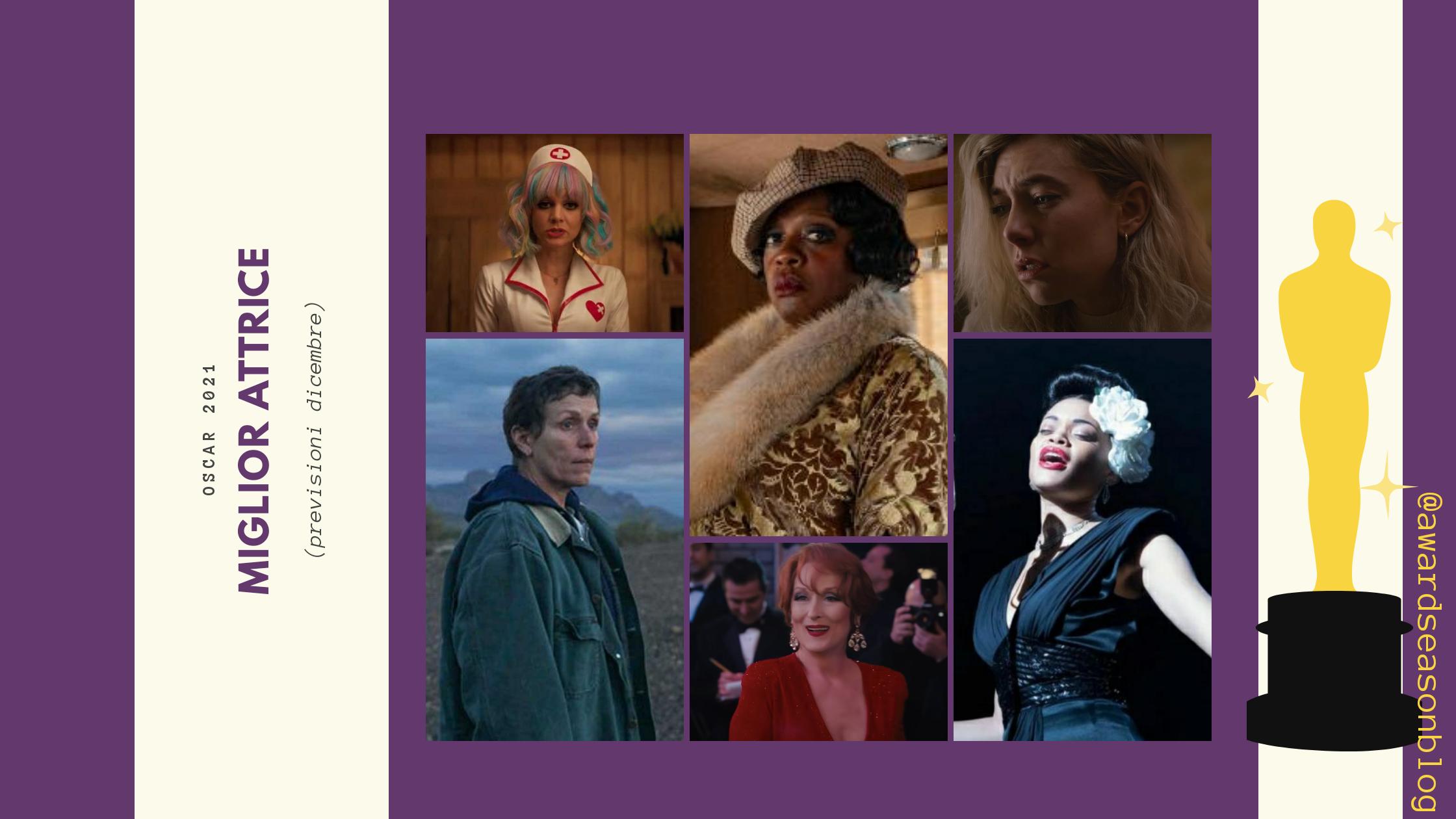 Previsioni Miglior attrice Oscar 2021