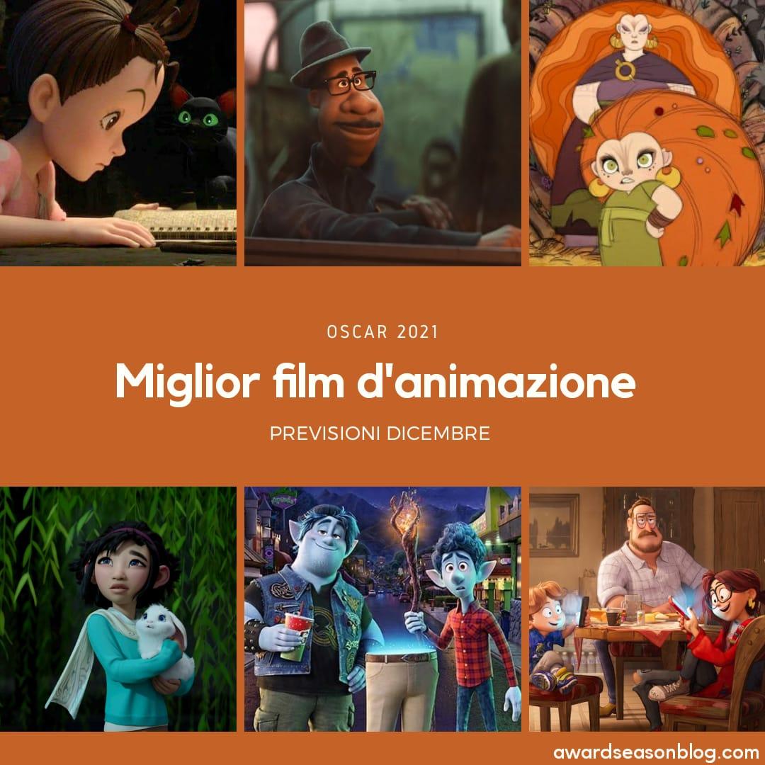 Oscar 2021 miglior film d'animazione pronostici