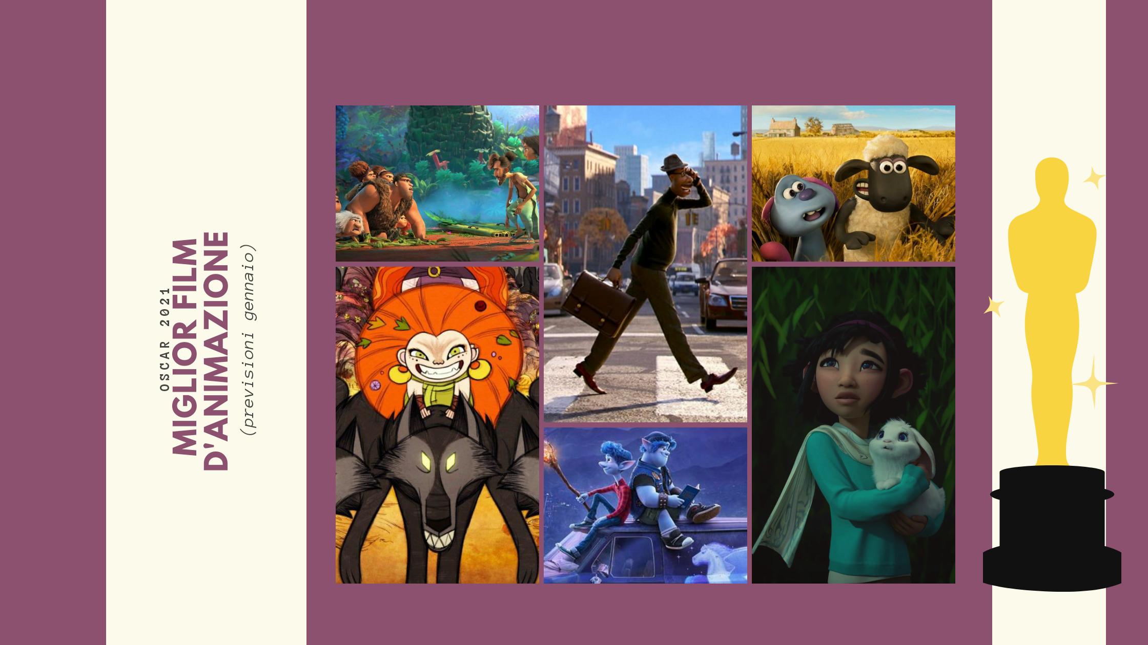 Miglior film d'animazione Oscar 2021 previsioni nomination