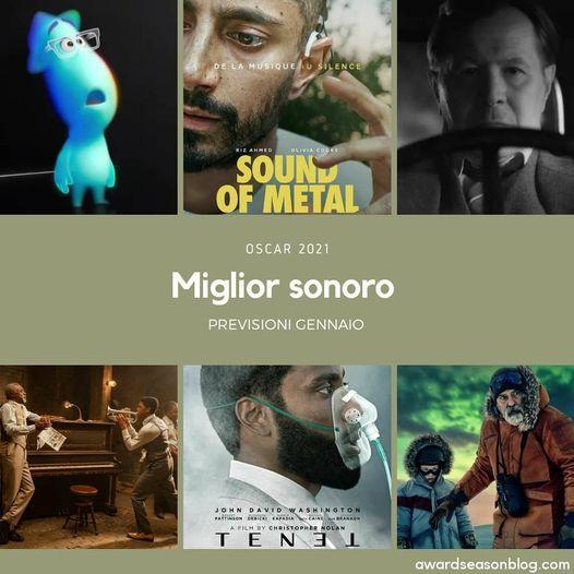 Previsioni Oscar 2021 miglior sonoro