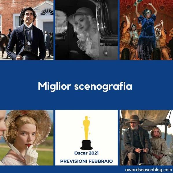 Miglior scenografia Oscar 2021 Previsioni