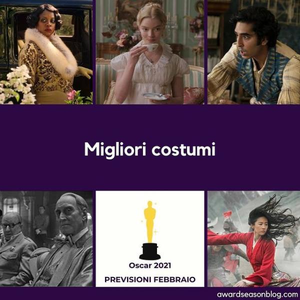 Previsioni Migliori Costumi Oscar 2021