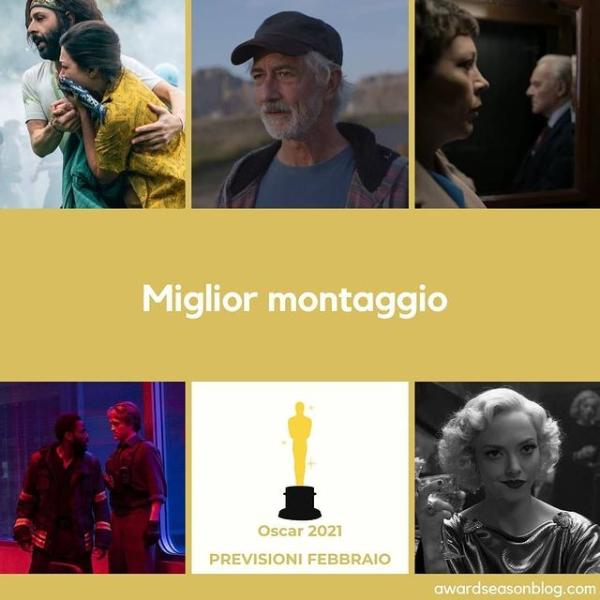 Oscar 2021 Miglior montaggio Previsioni
