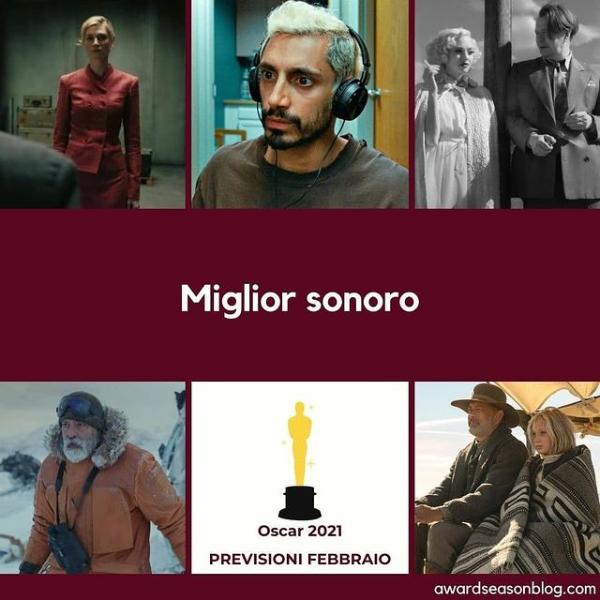 Oscars 2021 Predictions Best Sound