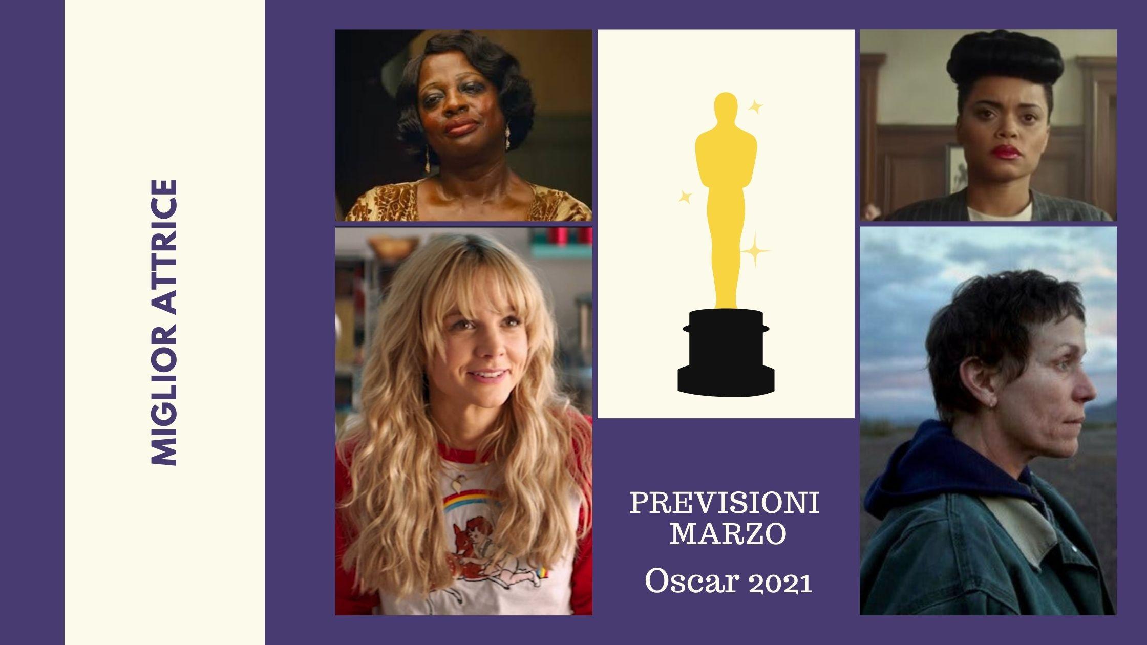 Miglior attrice Previsioni Nomination Osars 2021Oscar 2021