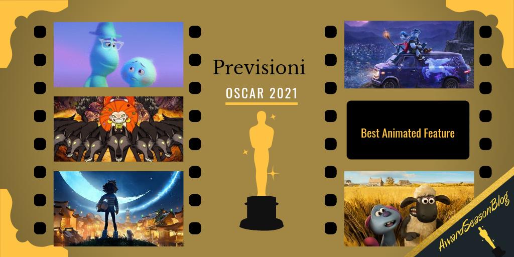 Previsioni Oscar 2021 Miglior Film d'Animazione